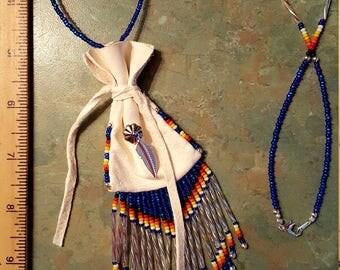 Beaded Medicine Bag - Necklace Length