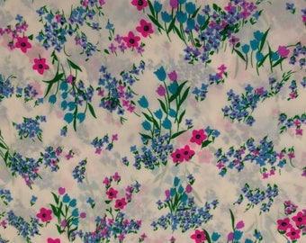 Silk crepe de chine in a floral print