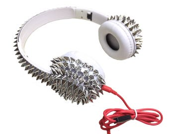 Blingustyle new design Spike Fashion Ear-Cup headphone Bling spikes silver