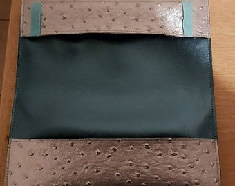 Faux leather checkbook