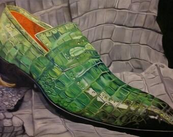 Green crocodile