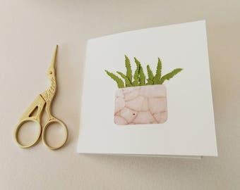 Handmade Fern Card