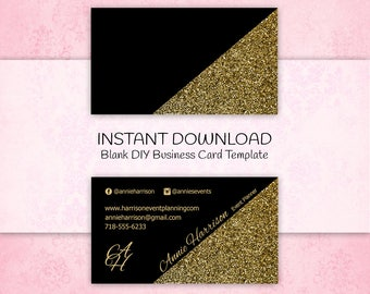 Do it yourself business cards download gallery card design and black gold business etsy blank business card single sided diy business card do it yourself business solutioingenieria Choice Image