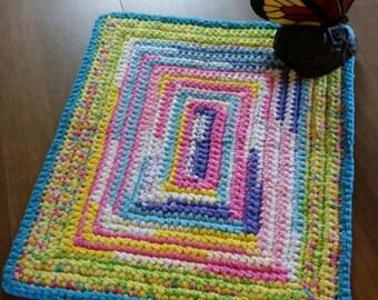 Yellow Rag Rug Pastel Rag Rug Turquoise Rug Aqua Rug Turquoise Rag Rug Pink Crochet Rug Blue Rag Rug Pink Rug Pink Rag Rug Yellow Rug
