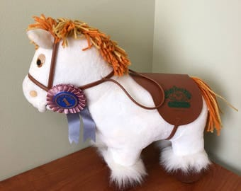 Vintage '80s Cabbage Patch Kids Show Pony White With Brown Mane