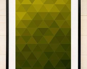 Geometric Art Print Green