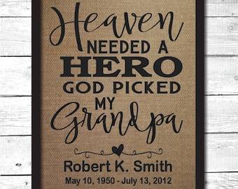 grandpa memorial, grandpa memorial gift, in memory gifts, in memory of, sympathy gift, sympathy gift grandchild,  grandfather memorial, M16