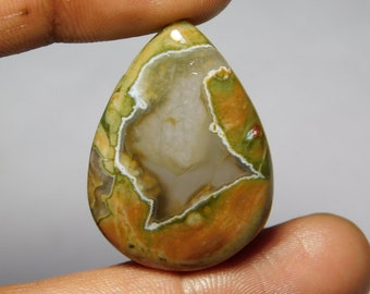 Awesome quality Rhyolite Cabochon,Loose Stone,Gemstone,Gorgeous Rhyolite Cabochon Excellent Gemstone 100%Natural 35.90cts.(33x24x5)mm