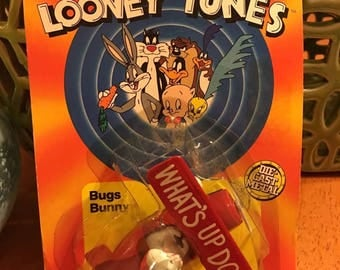 WB Looney Tunes BUGS BUNNY Toy Biplane Ertl Die Cast Metal What's Up Doc