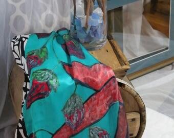 Silk scarf wrap sarong shawl...