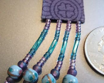 Blue Ceramic Beaded BeautyMarkz  Bookmark