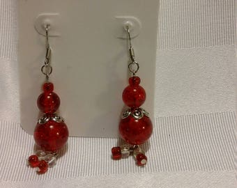 Handmade Mrs Clause earrings