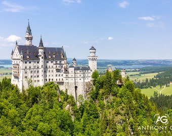 Neuschwanstein Castle in Bavaria, Germany Photographic Print or Canvas for Wall