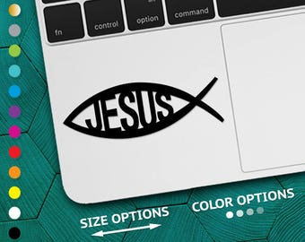 jesus fish, jesus fish decal, christian decal, car decal, jesus decal, jesus, jesus fish sticker, jesus sticker, religious decal