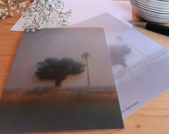 Two trees - map postcard 10 x 15 cm