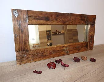 Glass in old wood frame