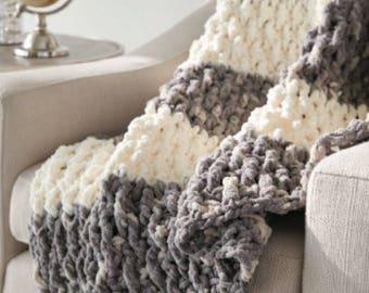 Lush blanket/ Throw/ Crochet blanket