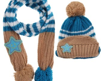 kids/toddler, boys/girls hat and scarves, wool,cotton , very warm