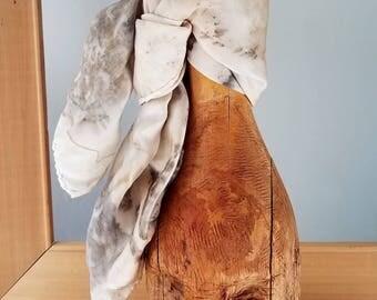 Eco printed scarf