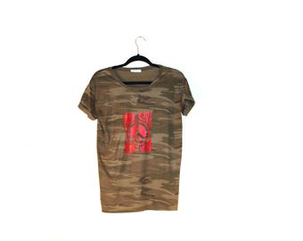 Make Love Not War Camo Tee