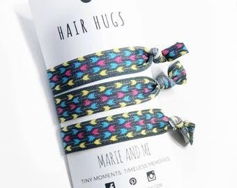 Aztec Hair Ties - No Crease Hair Ties - Elastic Hair Ties - Hair Ties Set - 3 pack Hair Ties