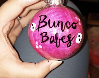 Bunco Customized Items - Ornaments, Mugs, Wine Glasses, etc.