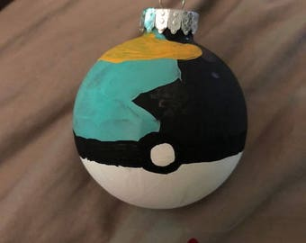 Pokemon Pokeball Moonball Ornament