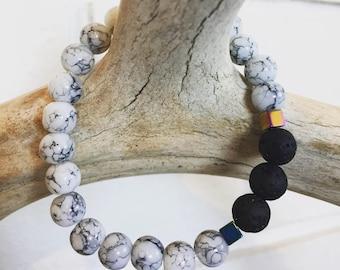 Essential oil lava bead diffuser bracelet