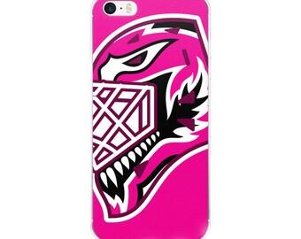 "Pink ""92"" Goalie Mask iPhone Case"