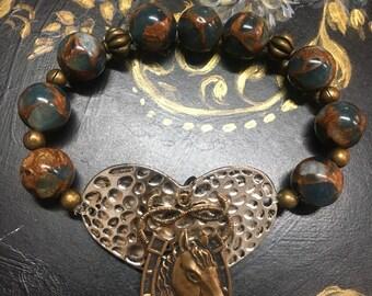 Heart Horse Bracelet