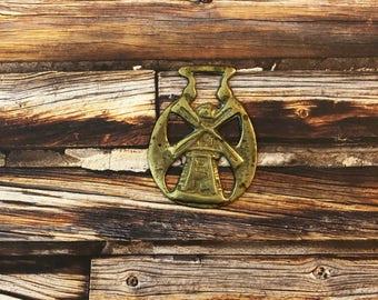 Windmill Horse Brass