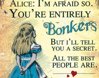 Fridge magnet - Alice in Wonderland
