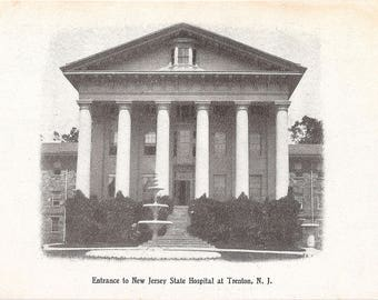 Early 1900s New Jersey State Hospital for the Insane Trenton NJ