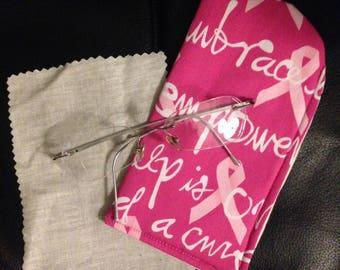Breast Cancer Awareness Eyeglass Case / Women Eyeglass case /kids Eyeglass Case