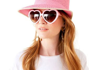 Summer Heart Sunglasses in Pink