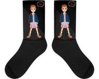 Black Eleven Socks | Stranger Things Store | Stranger Things Shirts, Mugs, Leggings & More