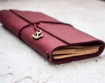 Purple travellers notebook, leather notebook
