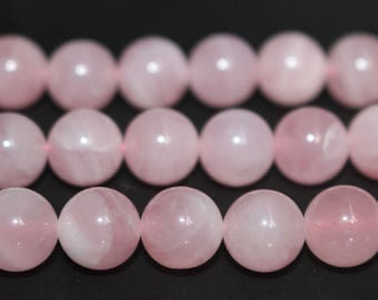 15 Inches Full strand,AA Natural Madagascar Rose Crystal Quartz  Beads 6mm 8mm 10mm Beads,loose beads,semi-precious stone
