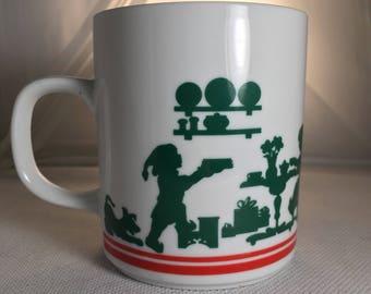 Vintage Avon 1984 Christmas Coffee Mug