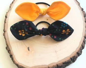 Knotted Bow Tie Elastic Hair Tie Set - Girl Elastic Hair Ties