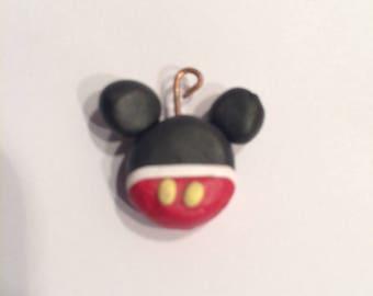 Kawaii Mickey mouse charm, polymer clay charm, pendent
