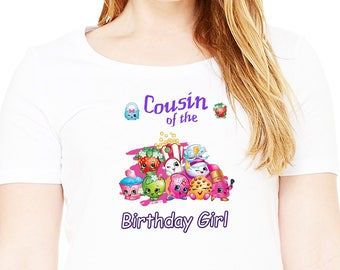 Shopkins , Iron On Transfer , Shopkins Cousin , DIY Cousin Birthday Shirt , Transparent Background , Instant Download , Digital Files