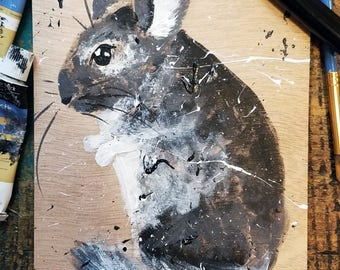 Custom Commission - Rustic =animal paintings on wood