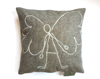 Cushion with Angel, approx. 50/50 cm.