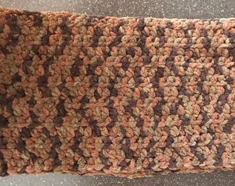 Brown cowl scarf