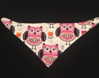 Baby bandana bib, Baby Bib Bandana, Baby Bib, drool bib, toddler bib, bibdana, dribble bib, owls, baby shower gift