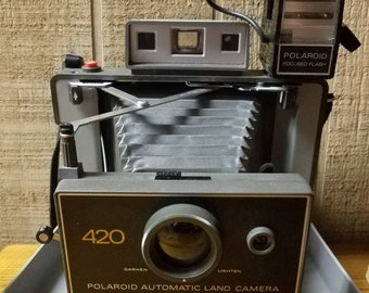 Polaroid 420 with flash