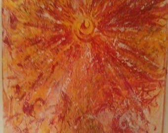"Acrylic Painting, ""Angel of Light"", Original"