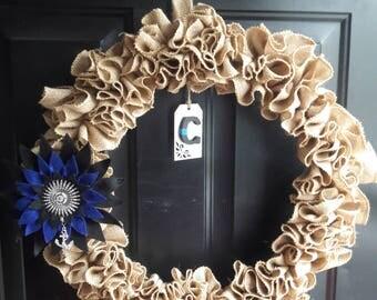 Thin Blue Line Wreath