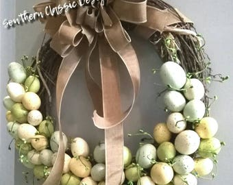 Brighten your home or front door with this beautiful Robin's Egg wreath